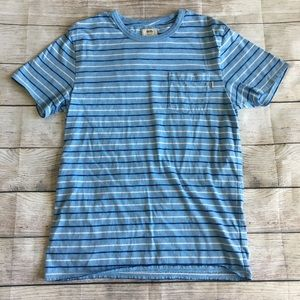 Vans Blue Stripped Short Sleeve Tee
